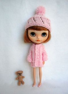 Hat and coat for blythe or pullip custom doll by GarlenaShop