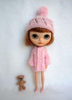 Hat and coat for blythe or pullip custom doll by GarlenaShop