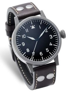 Amazon.com: Laco Hof Type A Dial Swiss Quartz Pilot Watch with Sapphire Crystal 861744: Clothing