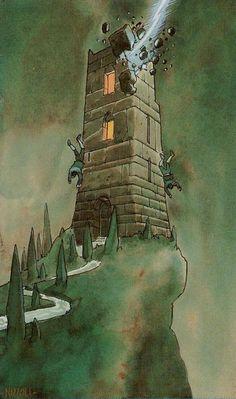 XVI. The Tower - Secret Tarot by Marco Nizzoli