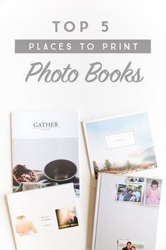 Photo books are a great way to get those photos off your phone or computer and on display for your family to enjoy! Come find out the top 5 places to print photo books!