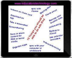 15 things every teacher should be able to do with their iPad