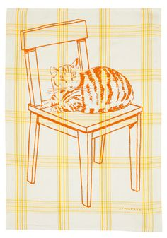 Chores Chart Dish Towel in Yellow - $12.99