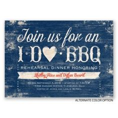 Having a backyard barbecue for your rehearsal dinner? This I DO BBQ rehearsal dinner invitation is ADORABLE! From Invitations by Dawn. #beforewedo Dinner Invitation Wording, Rehearsal Dinner Invitations, Wedding Rehearsal, Wedding Day, Wedding Invitations, Sister Wedding, Invitation Ideas, Invites, Wedding Stuff