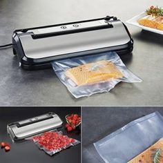 30cm 170 Watt Vacuum Food Sealer for Saving, Preserving, Packing & Marinating Foods With Vacuum Bags - Ideal to Shrink Wrap Meat, Fish, Poultry, Vegetables, Fruit, Pastries, Etc