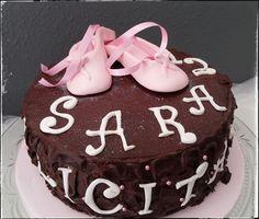 Tarta de Chocolate con Zapatillas de Ballet