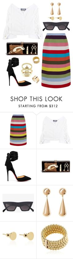 """#1222"" by arcvs ❤ liked on Polyvore featuring Mary Katrantzou, Jacquemus, Christian Louboutin, Charlotte Olympia, CÉLINE, Magdalena Frackowiak, christianlouboutin, celine, jacquemus and MagdalenaFrackowiakJewelry"