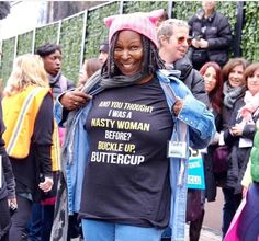 An image purportedly showing Whoopi Goldberg wearing a gory anti-Trump shirt is a digitally-manipulated fake. The doctored photo recently became entangled in the Kathy Griffin controversy, however, t… Roseanne Barr, Kathy Griffin, Whoopi Goldberg, And So It Begins, Trump Shirts, Clu, Brown Girl, Human Rights, We The People