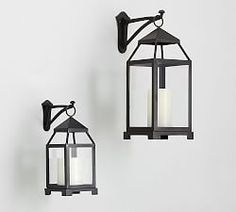 Shop Pottery Barn for hand crafted lanterns to light up any space. Our selection includes both indoor and outdoor lanterns in bronze, silver and wood finishes. Lantern Hooks, Metal Lanterns, Outdoor Wall Lantern, Candle Lanterns, Wall Mounted Vase, Wall Mounted Candle Holders, Candle Wall Sconces, Mirror With Hooks, Wall Hooks
