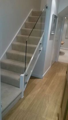 Glass Bannister Balustrade for Stairs. Complete kit ready for installation. in Home, Furniture & DIY, DIY Materials, Stairs Glass Bannister, Glass Stair Balustrade, Glass Stairs, Stair Handrail, Glass Railing, Staircase Banister Ideas, Modern Stair Railing, Staircases, Cable Railing