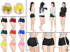 have 9 colors. (base game mesh) Found in TSR Category 'Sims 4 Female Everyday'