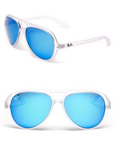 be9806efd6 Ray-Ban Matte Transparent Mirror Aviator Sunglasses