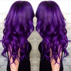 Voilet waves, incredible nice purple hair color idea to try