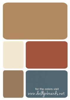 Carmel, Copper and Blue | Design Boards