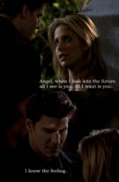 Buffy and Angel from Buffy the Vampire Slayer.