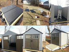 Assembly story Shed Organization, Shed Storage, Rubbermaid Shed, Goat Shed, Barn Style Shed, Clutter Solutions, Modern Shed, Garden Equipment, Big Garden