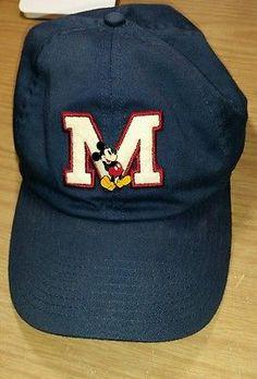 d2a62a756b3 Walt Disney World Hat Mickey Mouse Adult Adjustable Baseball Cap Fits Most  Blue