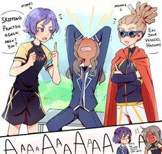 Inazuma Eleven: Ares no Tenbin Charlotte Anime, Girl Drawing Sketches, Team 2, Inazuma Eleven Go, Eleventh Doctor, Hilarious, Funny, Doujinshi, Anime Manga