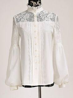White Sweet H-line Blouse