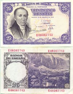 Billete de 25 pesetas, 1946 Madrid