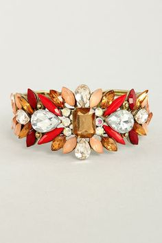 Catching Fire Red Rhinestone Cuff at LuLus.com! #lulus #holidaywear