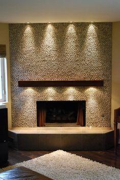fireplace down lighting - Google Search