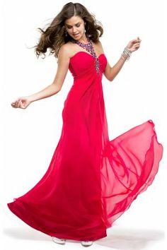 Sweetheart Neckline Elastic Satin Ruffled Formal Prom Dress