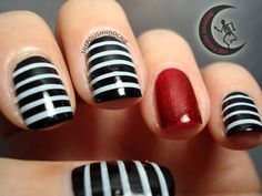 I'll get you, my pretty!   Awesome Halloween Tape Mani from ThePolishHoochie
