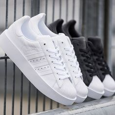 The adidas Superstar Bold stacked with some extra chunk and sole. Pic via @overkillshop #sneakerfreaker #snkrfrkr #adidas #superstar  via SNEAKER FREAKER MAGAZINE OFFICIAL INSTAGRAM - Fashion  Advertising  Culture  Beauty  Editorial Photography  Magazine Covers  Supermodels  Runway Models