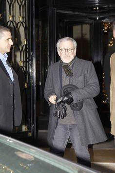 "Steven Spielberg leaving ""George V"" hotel in Paris. Steven Spielberg, Paris Hotels, Audrey Hepburn, Parisian, Celebs, Eat, Lifestyle, Stars, Shopping"