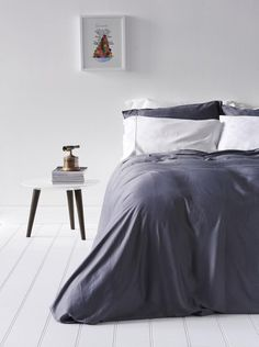Bamboo Bondi Duvet Cover Set - Grey
