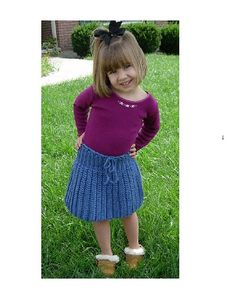 Short Skirt pattern by Mary Jane Hall - from Positively Crochet! 50 patterns for garments and accessories in 1 book. Instructions on how to make this skirt for a baby all the way up to a 4X! This is a beginner pattern & SO easy.