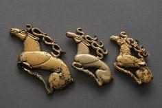 Şamanların kullandığı Kutlu Göksel Binekler. Hakasya Müzesi İskitler.