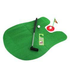 Amazon.com: Toilet Golf - Moonmini Potty Putter Set Bathroom Game Mini Golf Set Golf Putting Novelty Set - Play Golf on the Toilet: Toys & Games