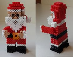 3D Christmas Santa perler beads by Joanne Schiavoni