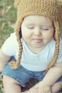Blair Nicole Photography #baby #bearhat