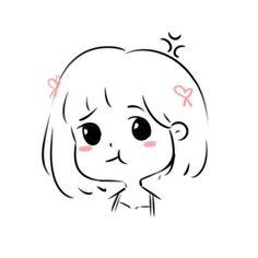 คิดฮอดเด้อ created by ท้องฟ้าสีดำ🖤 Cute Little Drawings, Cute Easy Drawings, Cute Girl Drawing, Cute Kawaii Drawings, Kawaii Art, Cute Cartoon Characters, Cartoon Art Styles, Kawaii Doodles, Cute Doodles