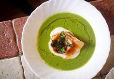 Spring dish / Peas Cream with Smoked Salmon