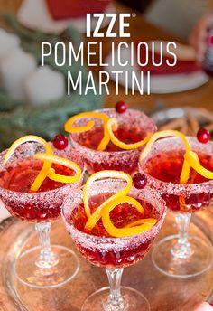 Shake it. Stir it. However you prefer it. The IZZE Pomelicious Martini.