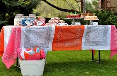 bandana tablecloth!