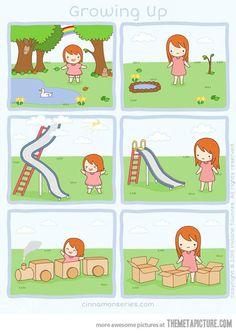 Growing up pretty much sucks…