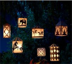 cricut lanterns look too compicated, but maybe we could do simple luminaries out of paper bags?