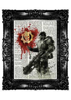 Gears of War Sketch Upcycled Book Dictionary Art Print Art Prints Vintage Book Print Vintage Book Page Recycled Buy 3 get 4th free. $7.99, via Etsy.--- I NEED THIS FOR MY FUTURE APARTMENT!!! Steampunk, Geek Room, Video Games Girls, Gears Of War, Dictionary Art, Xbox Games, Epic Games, Dark Souls, Game Art