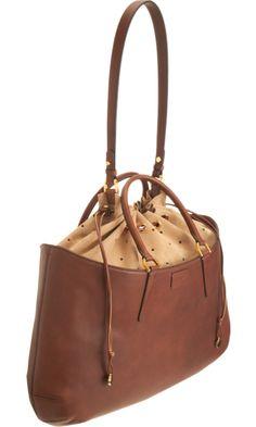 Fendi Perforated Leather B.Fab Bag