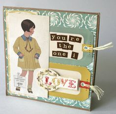 You're the One I Love Card - Scrapbook.com - Very pretty. #scrapbooking #cardmaking #cosmocricket
