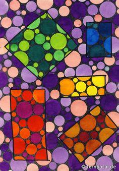 Kreise - Bilder mit Variationsmöglichkeiten