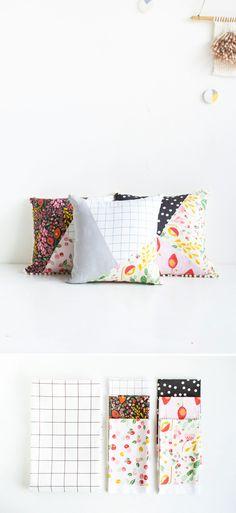 DIY+Pattern+Blocked+Pillow+|+Fall+For+DIY