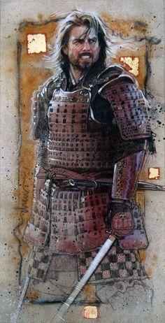 Last Samurai acrylics, colored pencils & gold leaf on board by Drew Struzan Samurai Art, Samurai Warrior, Samurai Swords, The Last Samurai, Japanese Warrior, Star Wars Film, Pop Culture Art, Christian Movies, Movie Poster Art