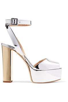3a51dcac022 Giuseppe Zanotti - Mirrored-leather platform sandals