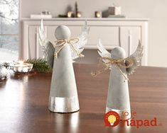 in trendy concrete look, heavy quality cement with metal details, t . - in a trendy concrete look, heavy quality cement with metal details, some with a silver shimmer fini - Concrete Crafts, Concrete Art, Concrete Projects, Christmas Angels, Christmas Crafts, Christmas Ornaments, Clay Crafts, Diy And Crafts, Xmas Decorations